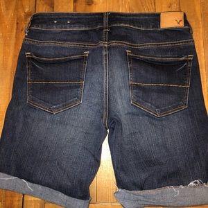 American Eagle skinny Bermuda jean shorts Sz 6